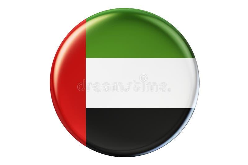 Crachá com a bandeira dos UAE, rendição 3D ilustração do vetor