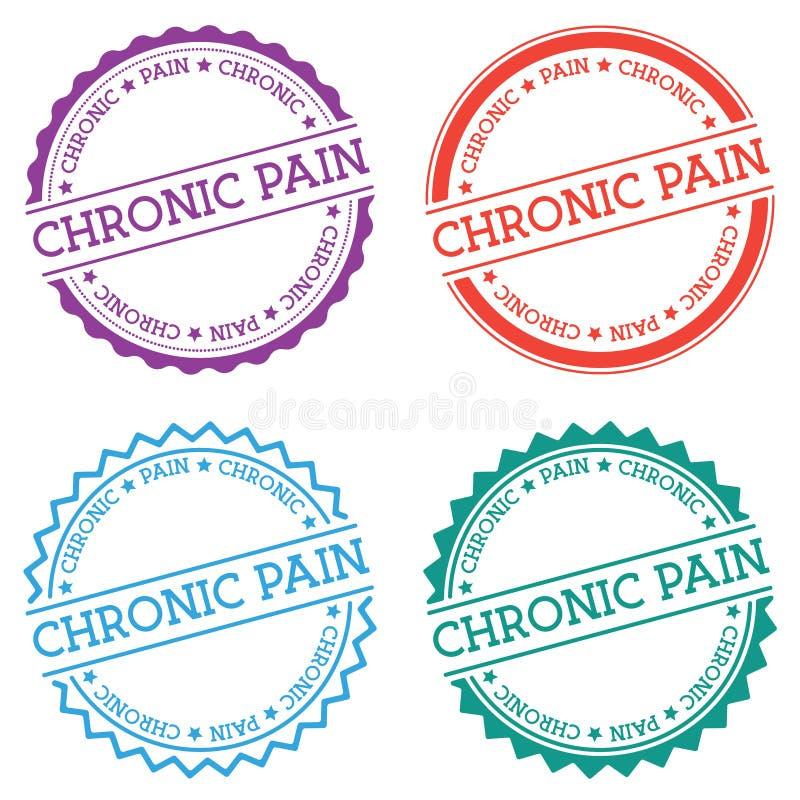 Crachá crônico da dor isolado no fundo branco ilustração do vetor