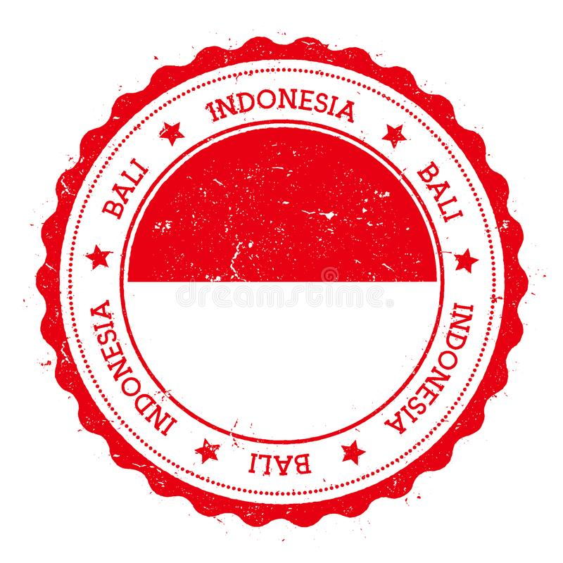 Crachá da bandeira de Bali ilustração do vetor