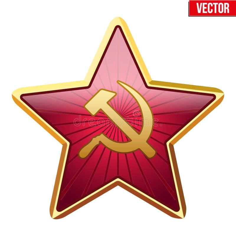 Crachá da estrela de União Soviética ilustração stock