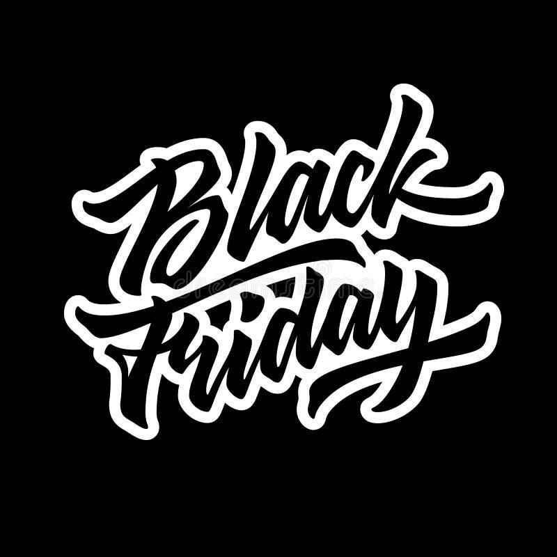 Crachá da rotulação da venda de Black Friday ilustração royalty free