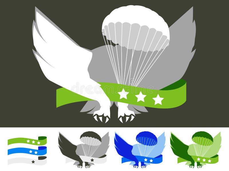 Crachá de paraquedista imagem de stock royalty free