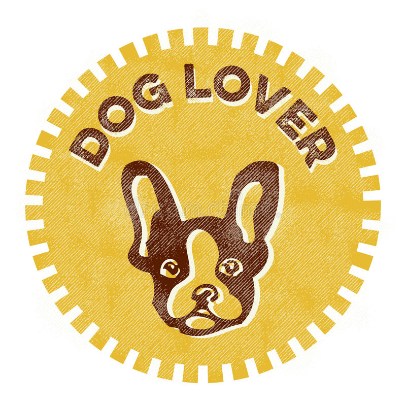 Crachá do amante do cão ilustração stock