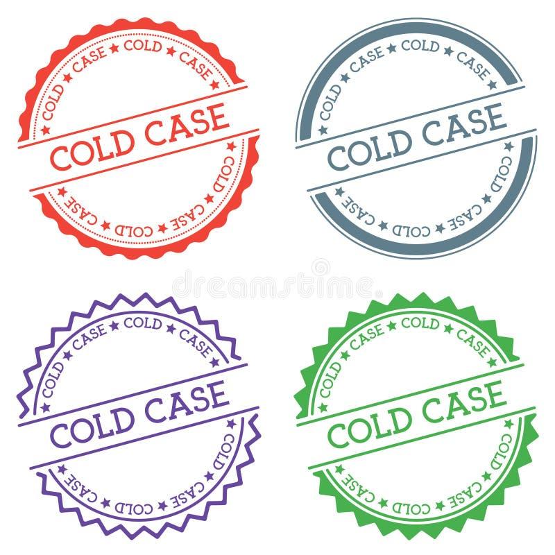 Crachá do caso arquivado isolado no fundo branco ilustração stock