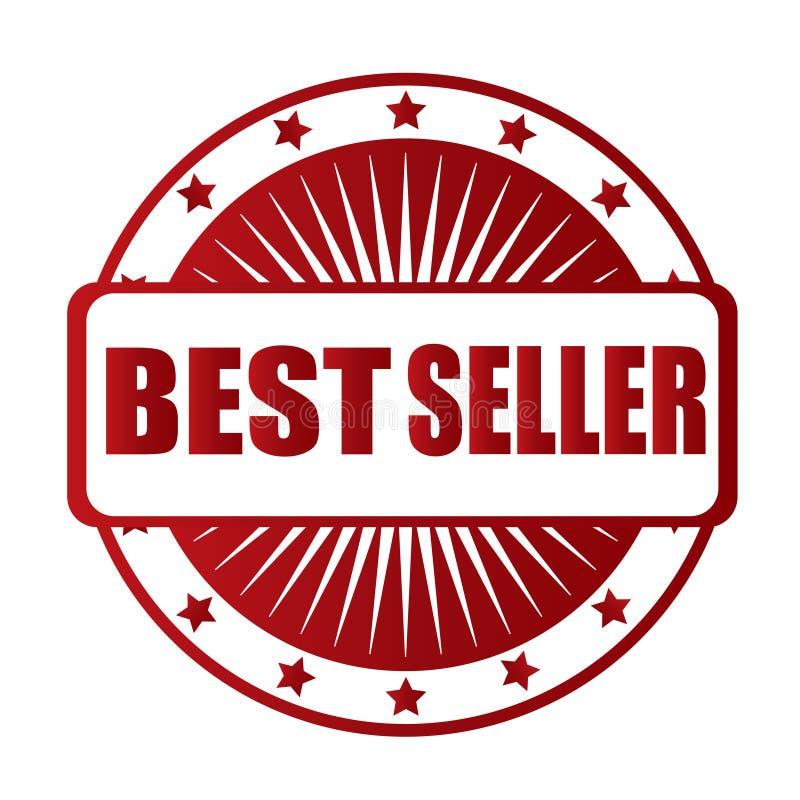 Crachá do vermelho do melhor vendedor imagem de stock royalty free