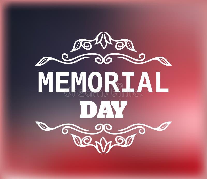 Crachá do vintage do vetor para o Memorial Day ilustração royalty free