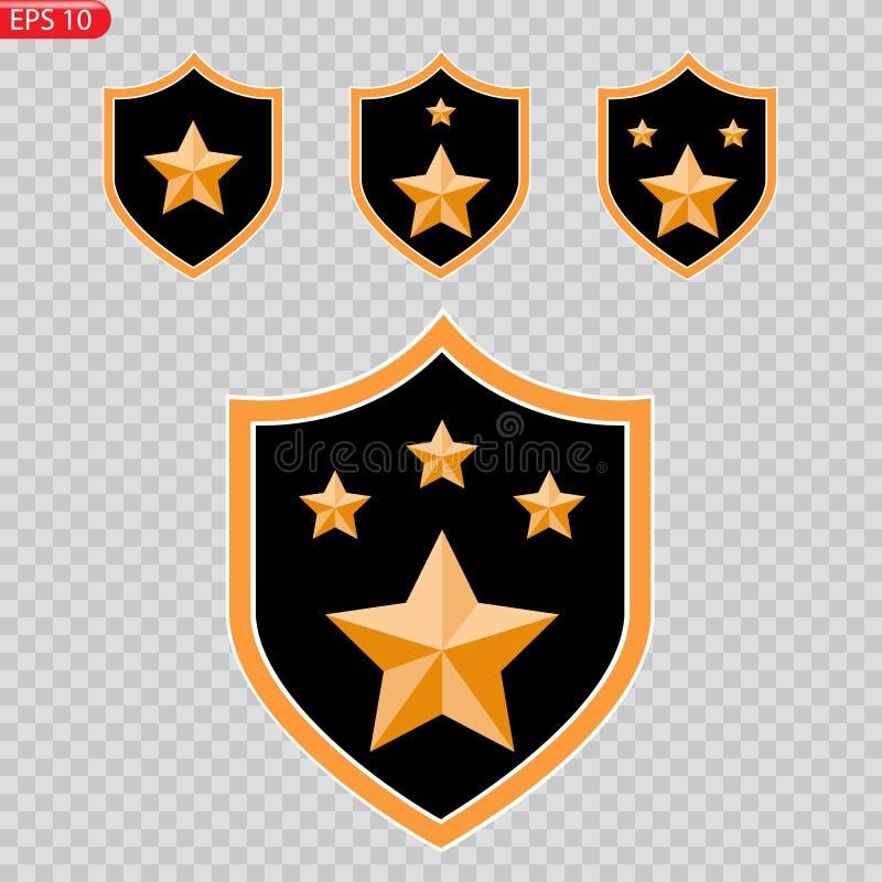 Crachá, exército, imagem do vetor do ícone da honra ilustração do vetor