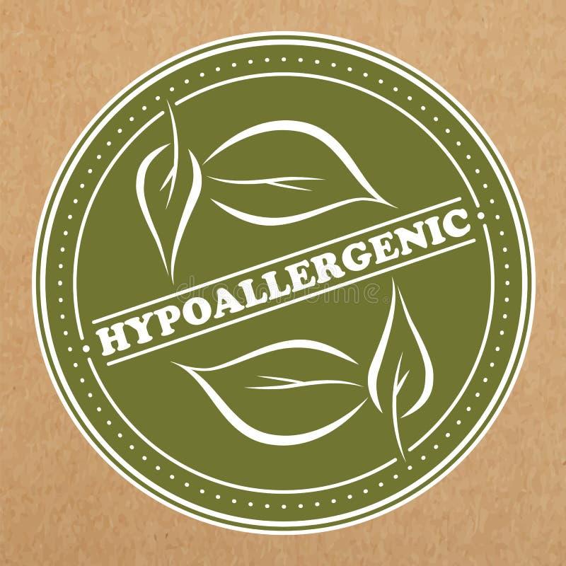 Crachá Hypoallergenic, ícone, disposição da etiqueta ilustração stock