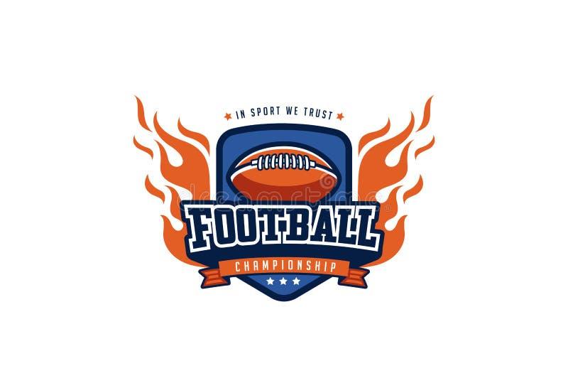 Crachá Logo Design do futebol Esporte Team Identity Label do t-shirt ilustração do vetor