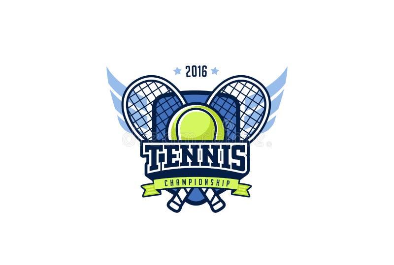 Crachá Logo Design do tênis Etiqueta da identidade do esporte dos gráficos do t-shirt ilustração stock
