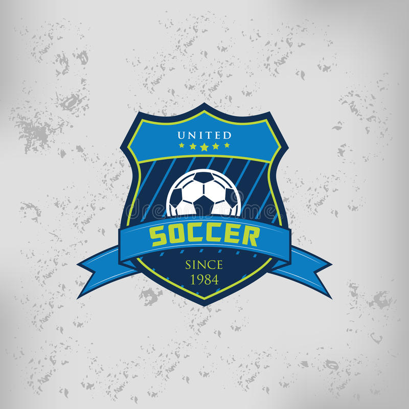 Crachá Logo Emblem Design Templates do futebol do futebol ilustração royalty free