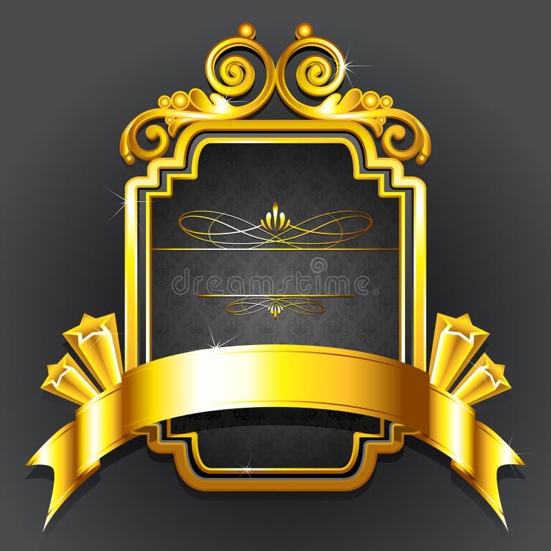 Crachá real dourado ilustração royalty free