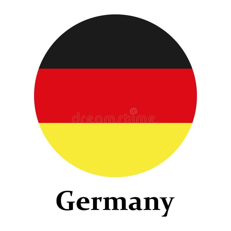 Crachá redondo da bandeira de Alemanha no círculo Bandeira de Alemanha no vetor eps10 do círculo ilustração royalty free