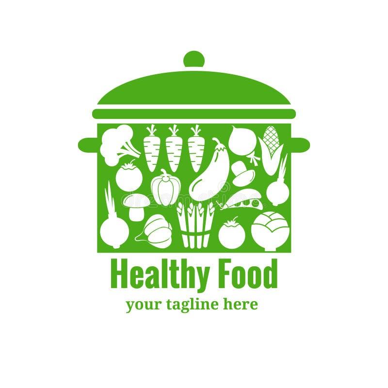 Crachá saudável do alimento Bandeja com vegetais ilustração do vetor
