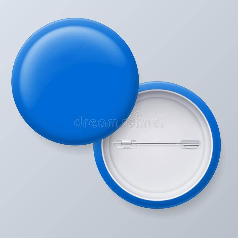 Crachás azuis vazios ilustração stock
