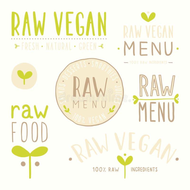Crachás crus do vegetariano ilustração stock