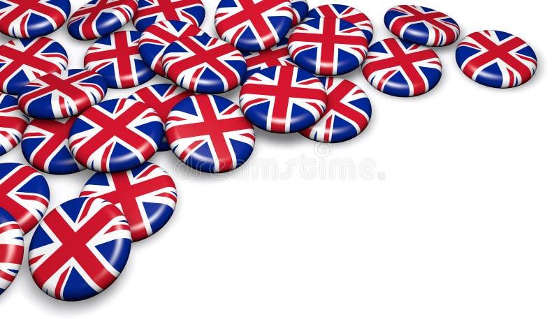 Crachás de Reino Unido Reino Unido ilustração stock