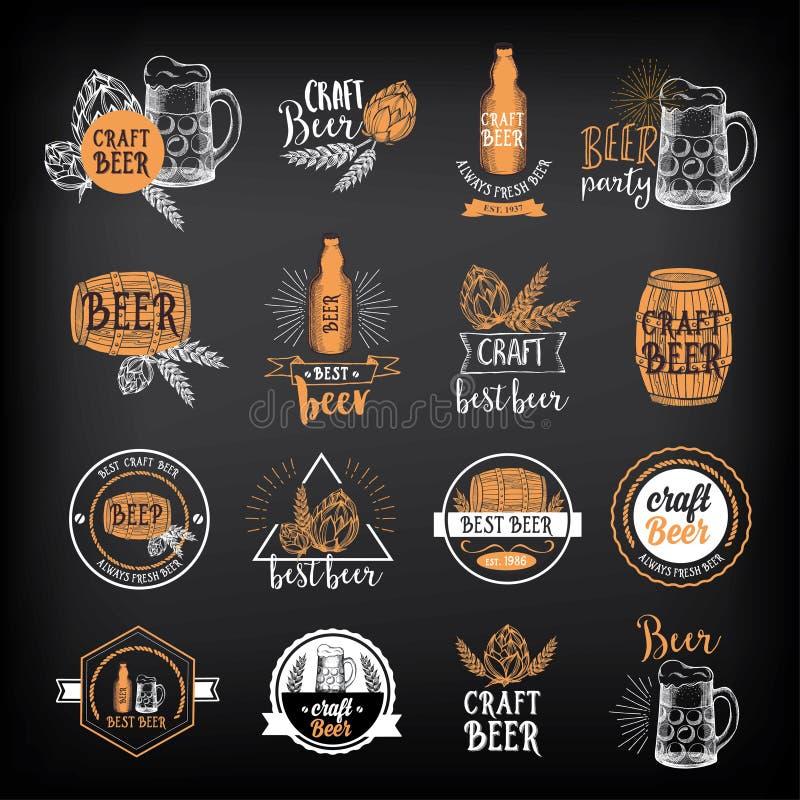 Crachás do café do restaurante da cerveja, projeto do molde da bebida ilustração do vetor