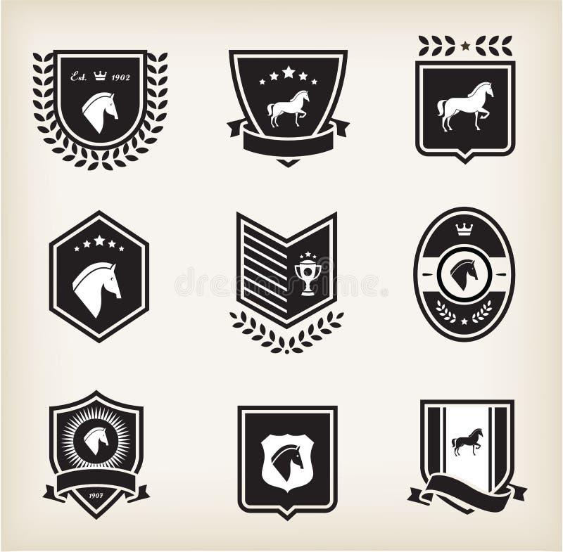 Crachás do cavalo ilustração royalty free