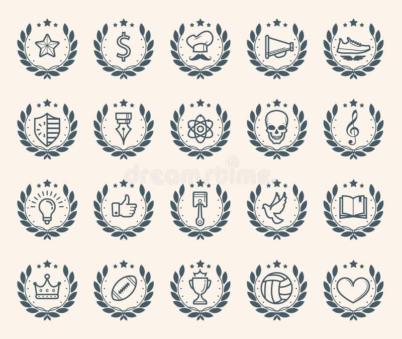 Crachás lisos da realização ilustração royalty free