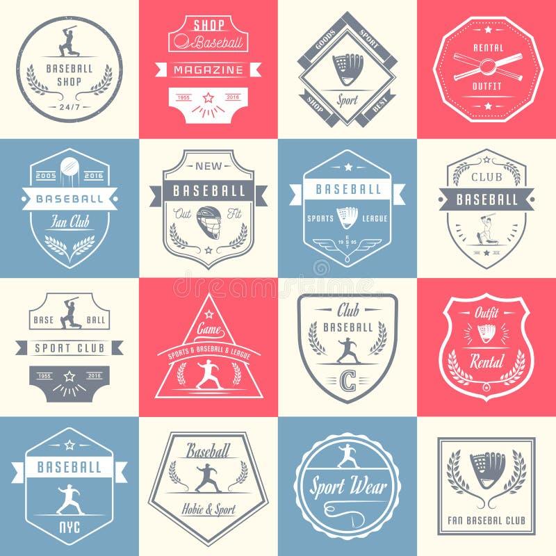 Crachás, sinal e logotipos ajustados da ressaca do vetor ilustração do vetor