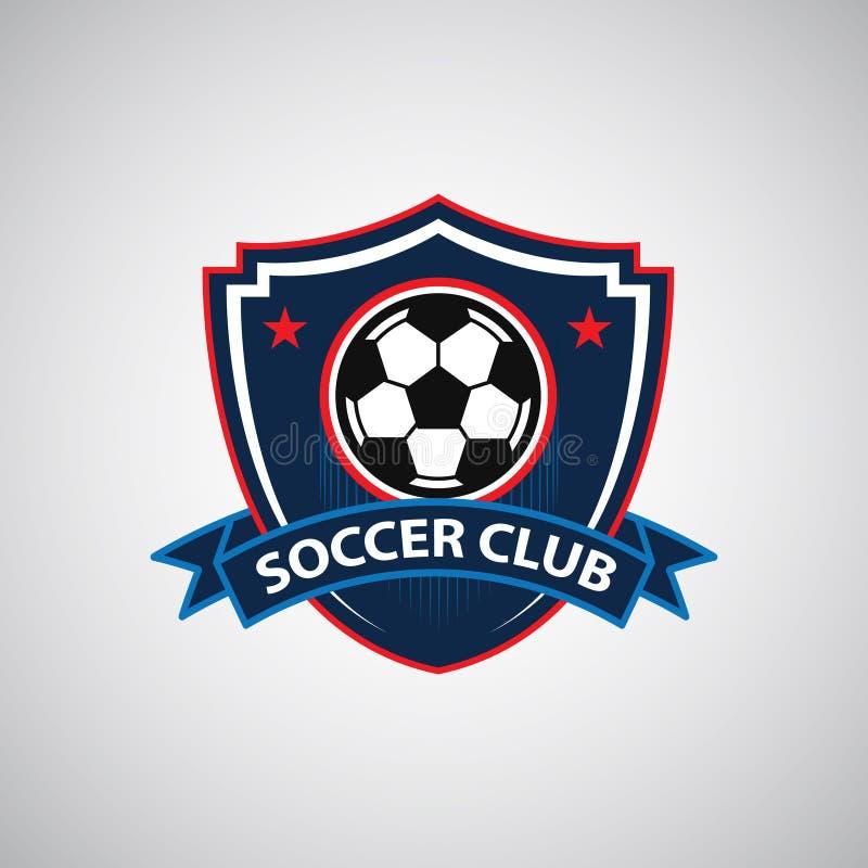 Crach? Logo Design Templates do futebol do futebol | Esporte Team Identity Vetora Illustrations isolado no fundo azul ilustração royalty free