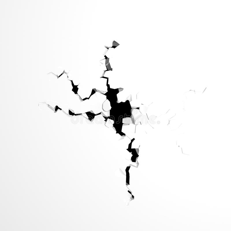 Download Crack stock illustration. Image of earthquake, crushed - 22243554