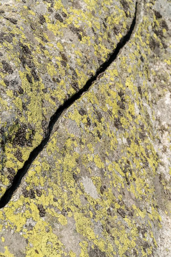 Crack in the stone royalty free stock photo