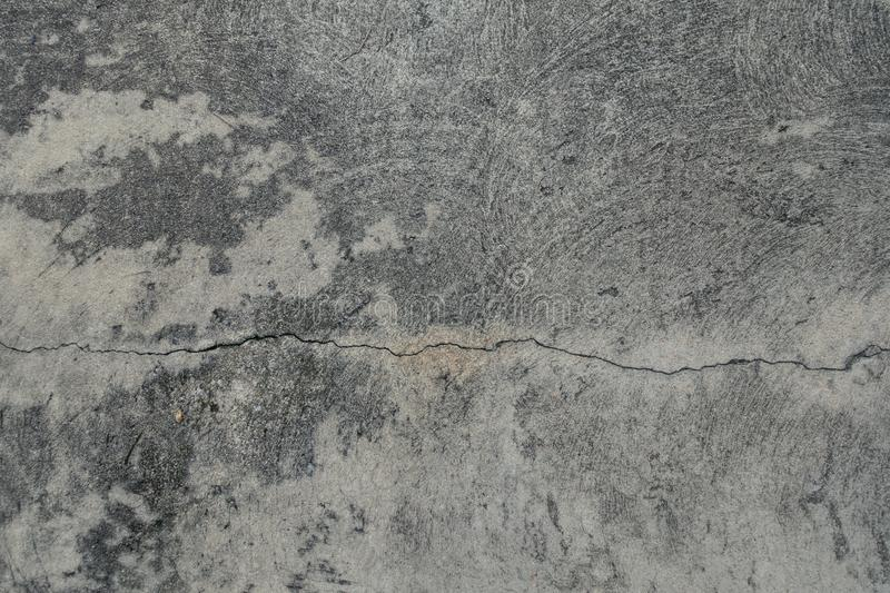 Crack cement floor texture background stock photography