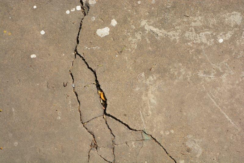 Crack cement floor texture stock photography