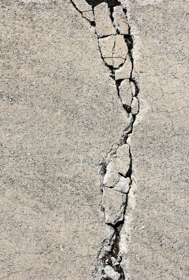Crack On Cement Pavement Royalty Free Stock Image