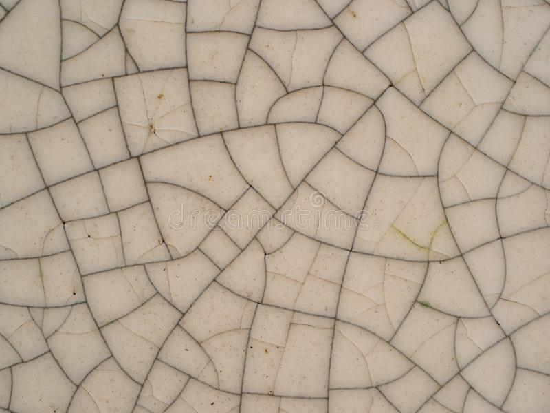Crack ceramic texture surface background royalty free stock image