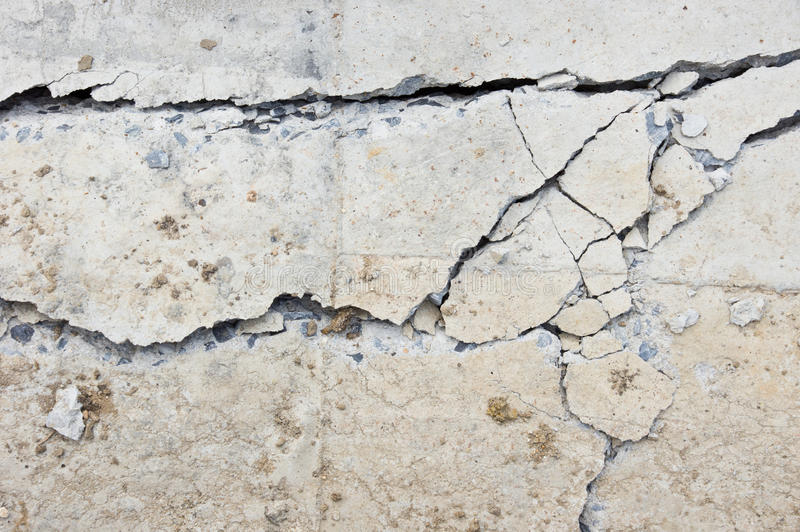 Crack concrete royalty free stock image