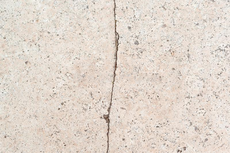 Crack concrete wall background. Textured old grunge background. Concrete surface with crack royalty free stock photography