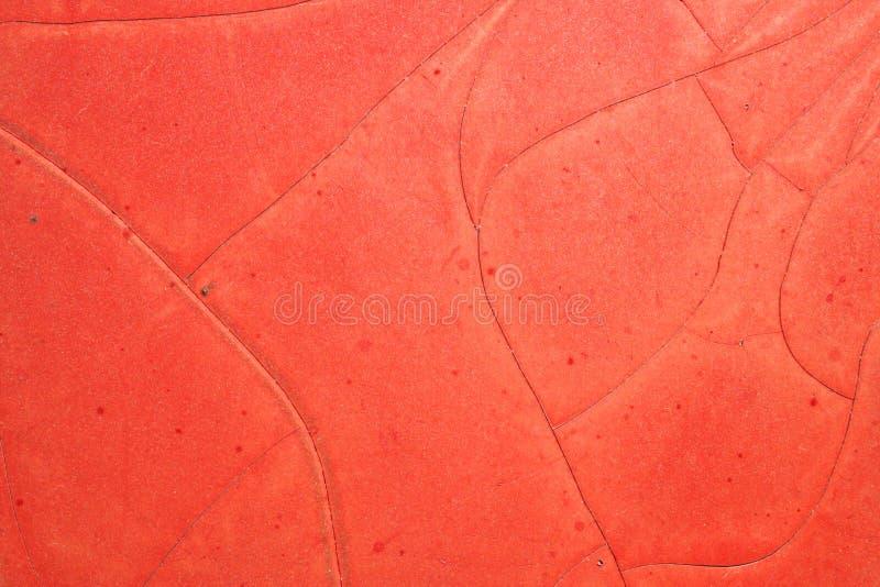 crack farby czerwony obraz royalty free