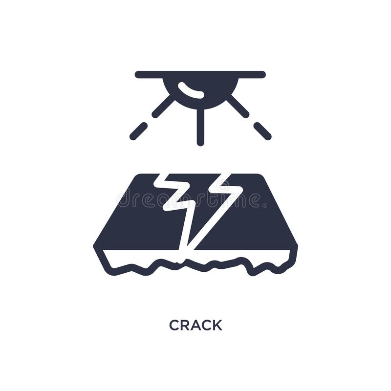 crack icon on white background. Simple element illustration from desert concept royalty free illustration