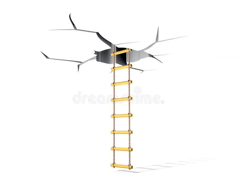 Download Crack and ladder stock illustration. Image of crevice - 26629189