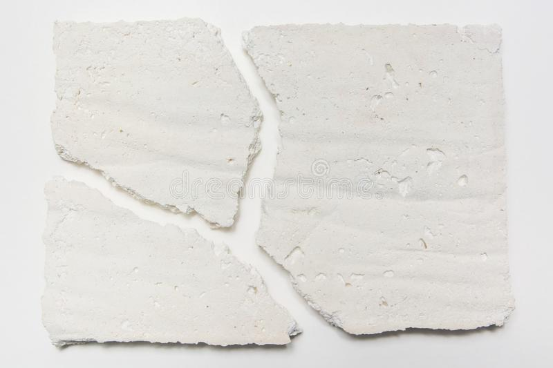 Crack lime plate texture stock images