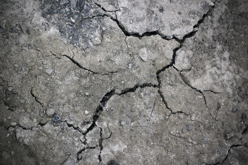 Crack at stone wall stock photography