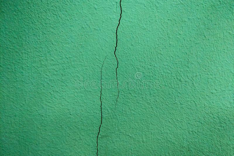Crack of the wall in the office or on the facade of the building, background.  stock photo