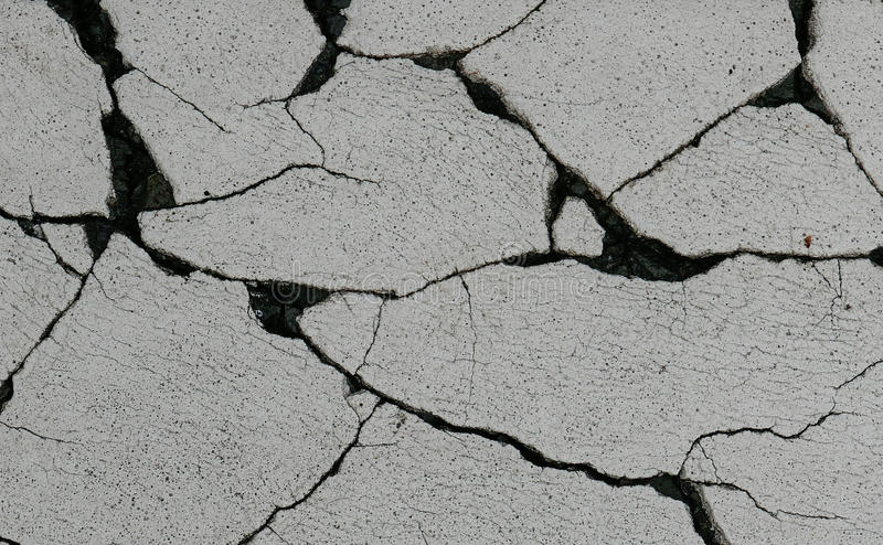 Crack on the White road royalty free stock photos