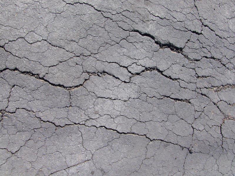 Cracked asphalt stock image