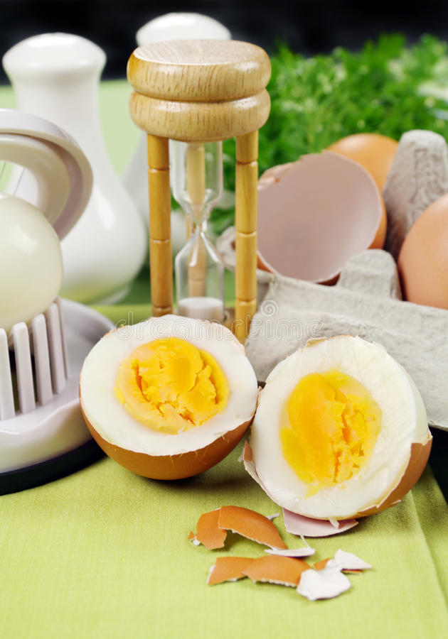 Download Cracked Boiled Egg stock photo. Image of garnish, broken - 27522674