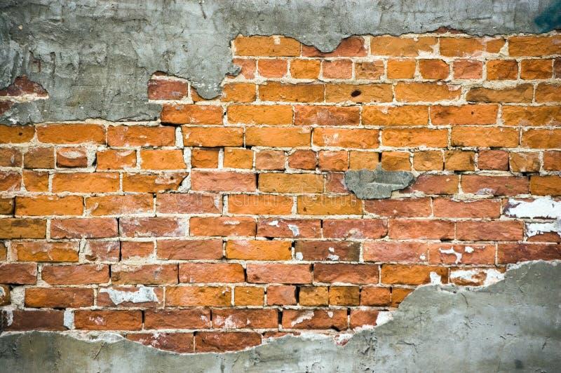Cracked brick royalty free stock photography