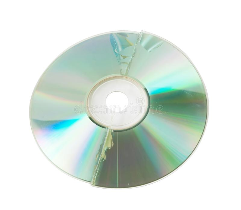 Download Cracked CD isolated stock image. Image of cracked, scratched - 14655263