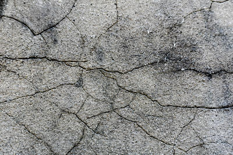 Cracked Cement Wall Background - Broken Abstract stock photo