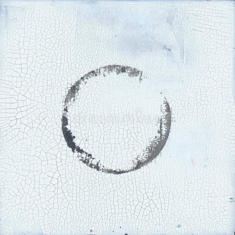Free Cracked Circle Textural Abstract Zen Painting Royalty Free Stock Photography - 151237877