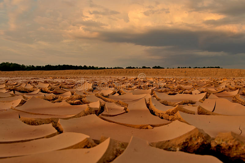 Download Cracked Clay Soil Concept Image Of Global Warming. Stock Image - Image: 12339387