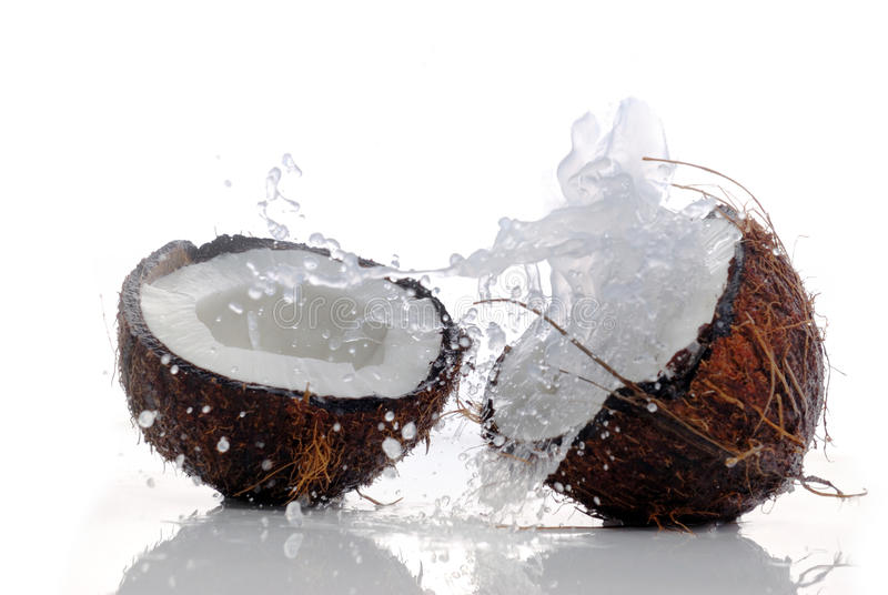 Download Cracked coconut stock image. Image of shot, space, coco - 26497529