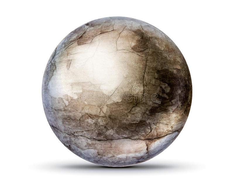 Cracked concrete ball royalty free stock photography